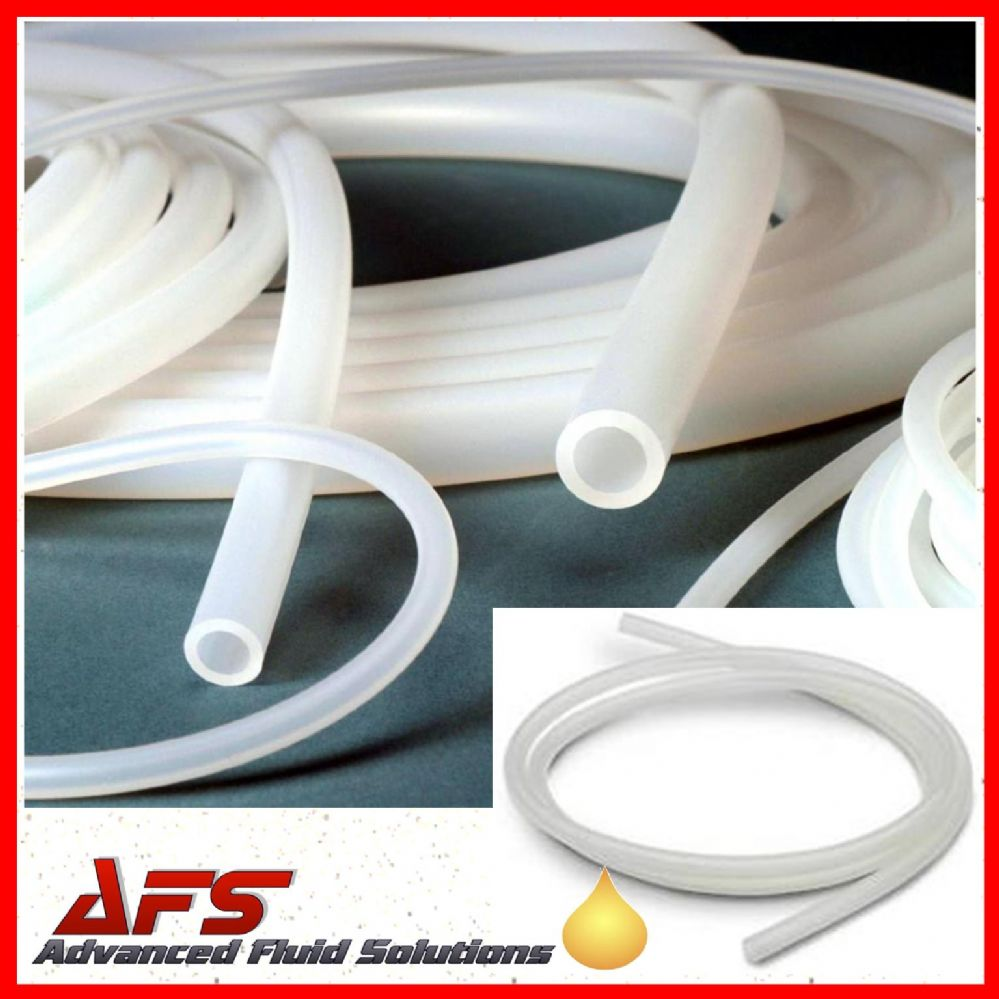 8mm I D X 10mm O D Clear Transulcent Silicone Hose Pipe Tubing
